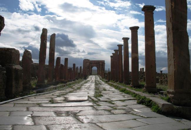 Roman city in North Africa Timgad 2