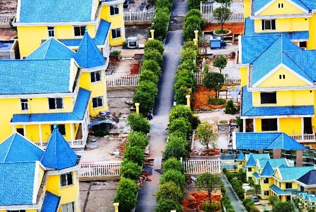 Cottages on the high rise building in the city of Hengyang 4