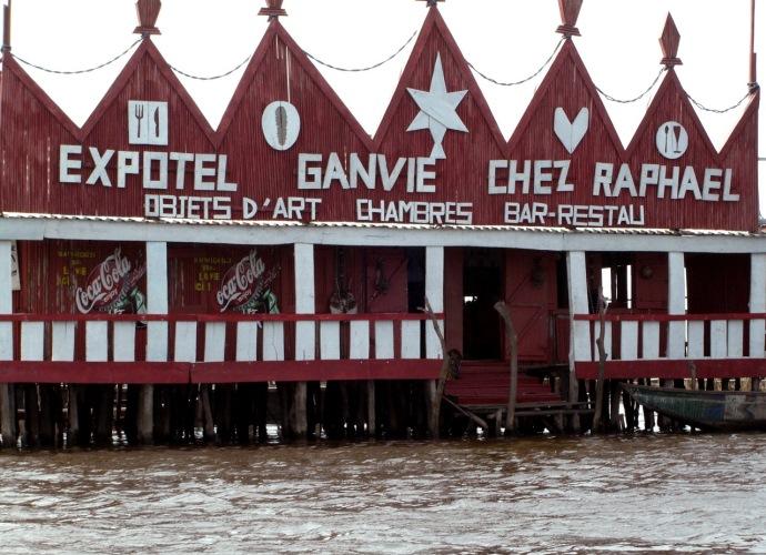 Интересные места Африки деревня Ганви посреди озера 5