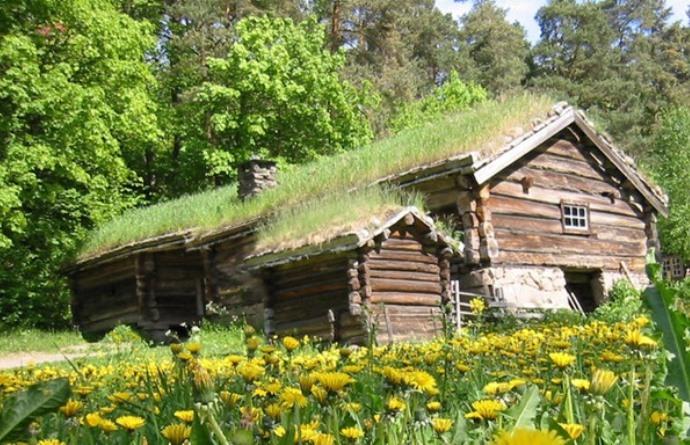 Достопримечательности Европы зеленые крыши Финляндии 3