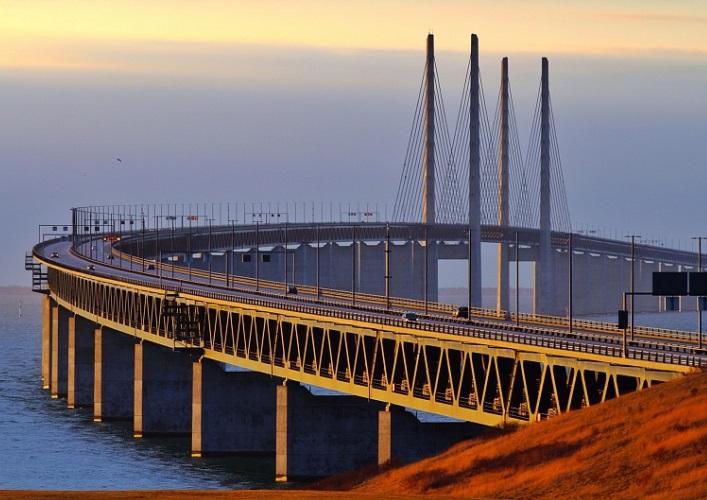 Интересные места Европы Эресуннский мост 2