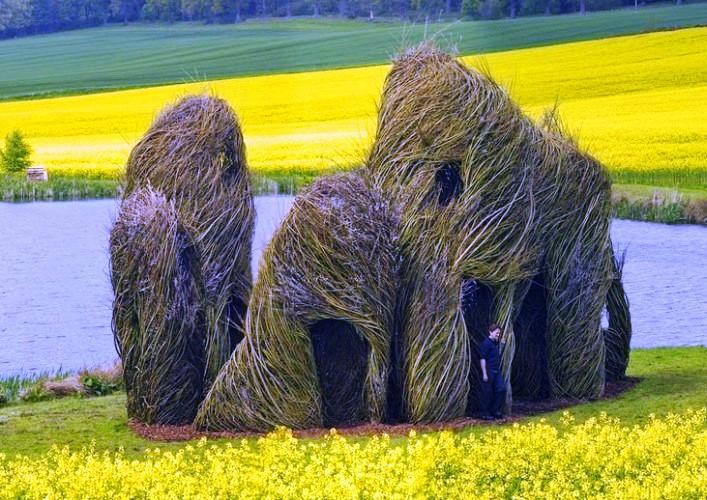 Путешествие в мир скульптур Патрика Догерти 4