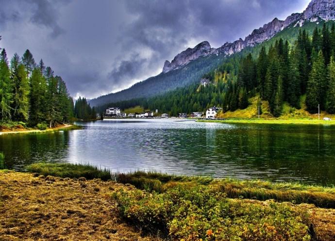 Пейзажи озера Мизурина или путешествие в Доломитовы Альпы 3