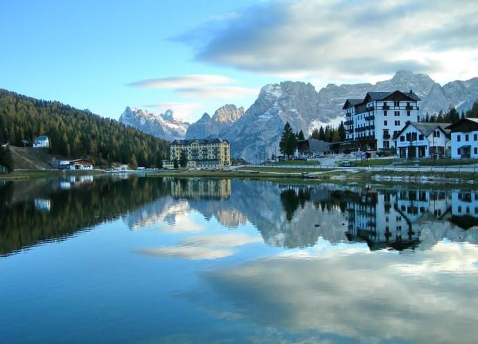 Пейзажи озера Мизурина или путешествие в Доломитовы Альпы 4