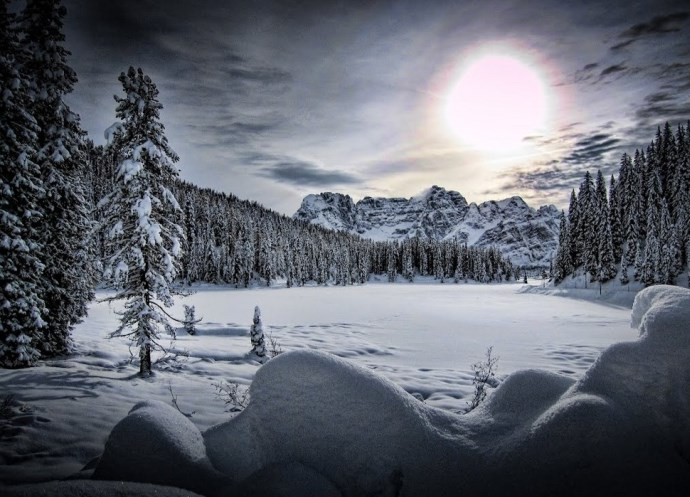 Пейзажи озера Мизурина или путешествие в Доломитовы Альпы 5
