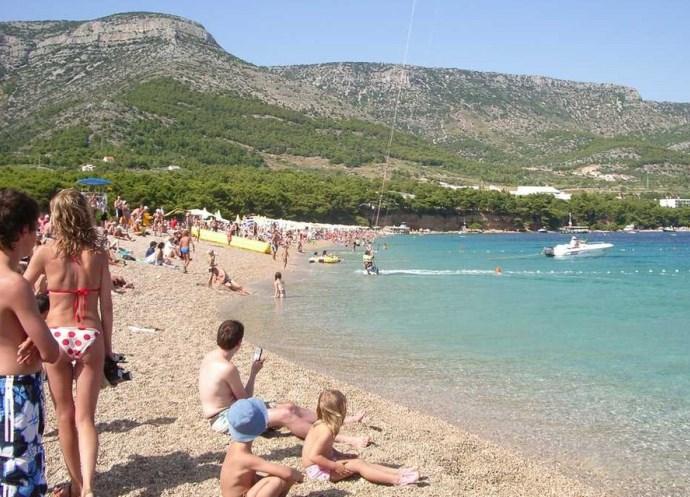 Популярный отдых в Европе Хорватия пляж Золотой Рог 2