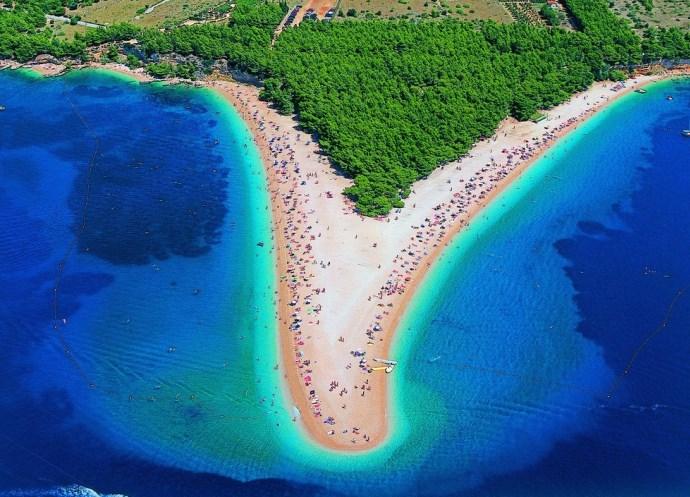 Популярный отдых в Европе Хорватия пляж Золотой Рог 3