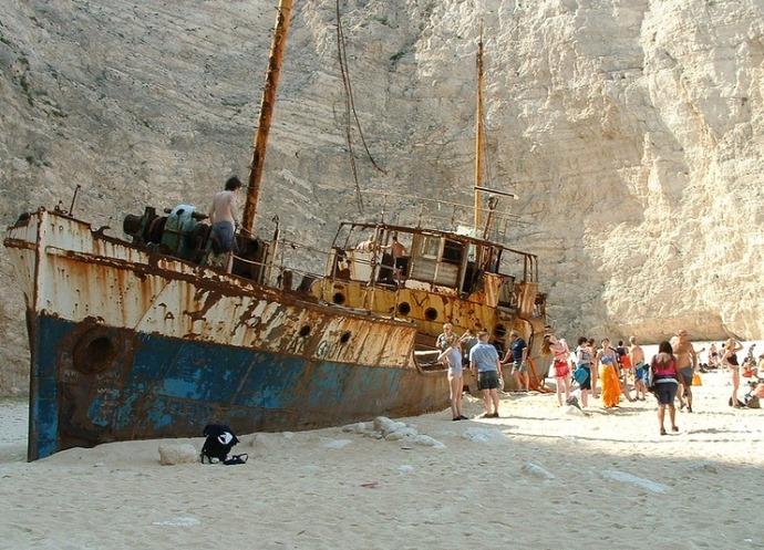 Самый запоминающийся отдых в Греции Бухта Контрабандистов   пляж Навагио 5