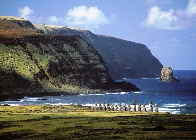 Истуканы с острова Пасхи и Южная Америка 2