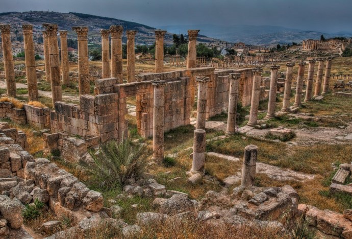 Интересные места Африки руины города Джараш 4