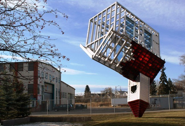 Denis Oppengeim upside-down house 2
