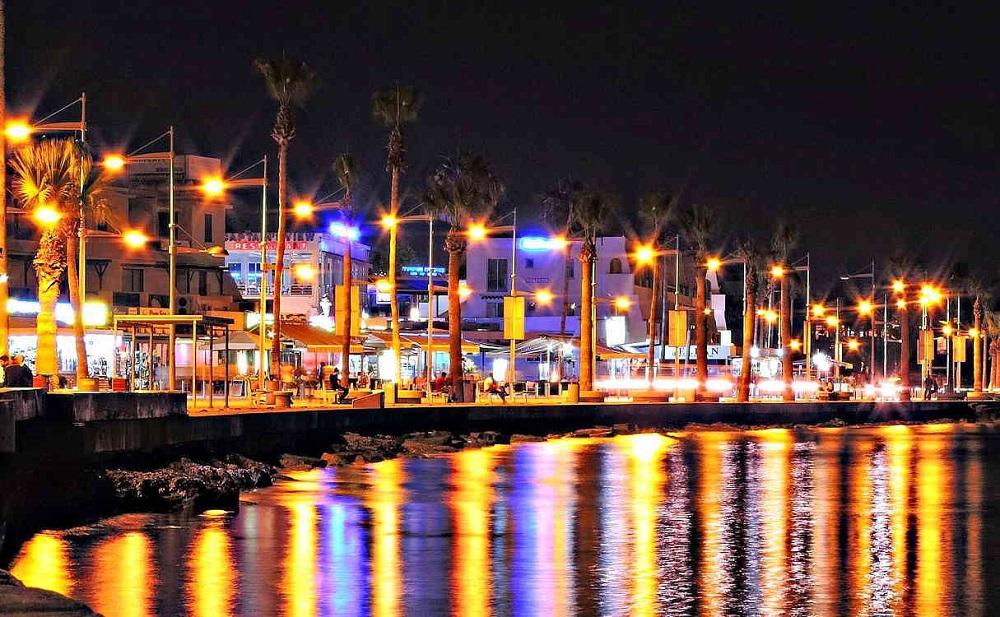 Ночной Пафос Кипр