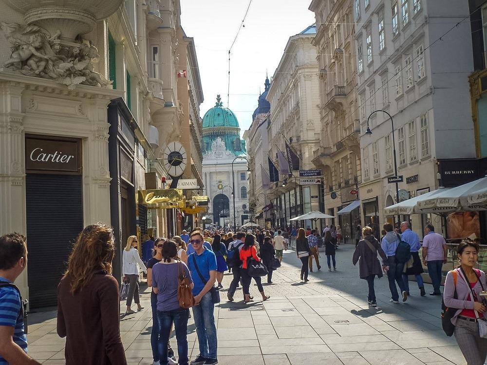 Туристы в Австрии