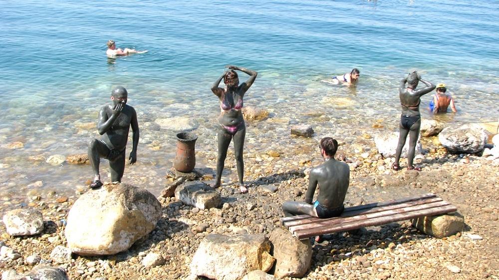 Береговая линия Иордании с Мертвым морем
