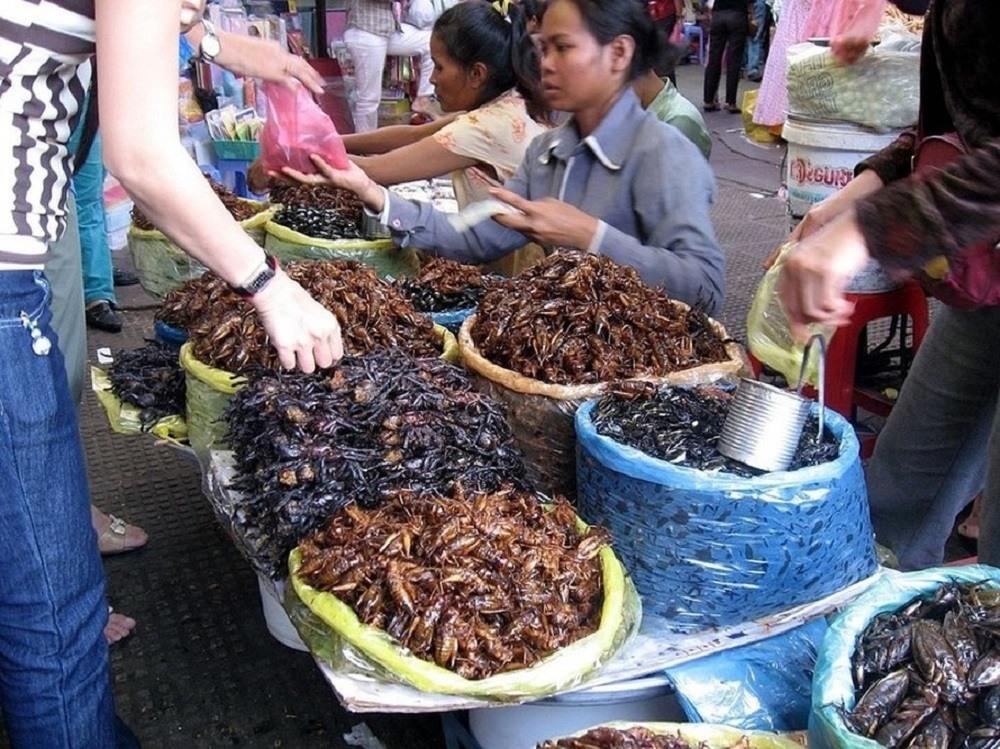 Знаменитые рынки насекомых