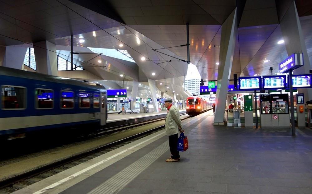 Вокзал в Австрии
