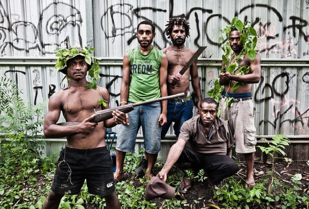 Деревенские папуасы