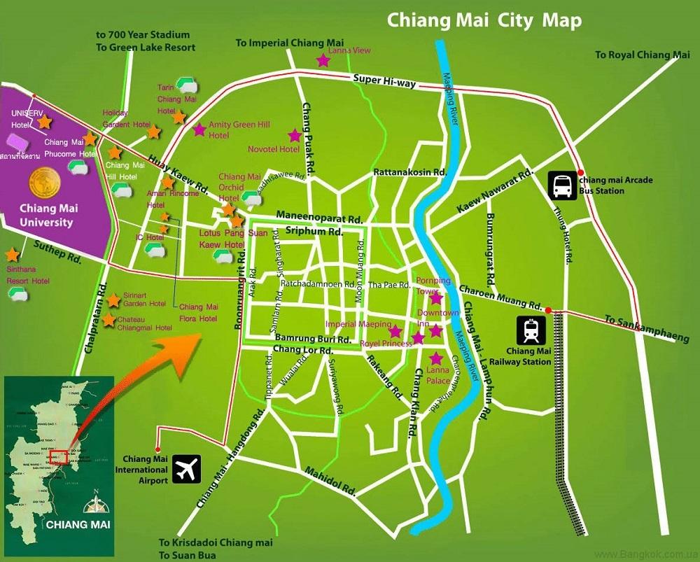 Map Chiang May