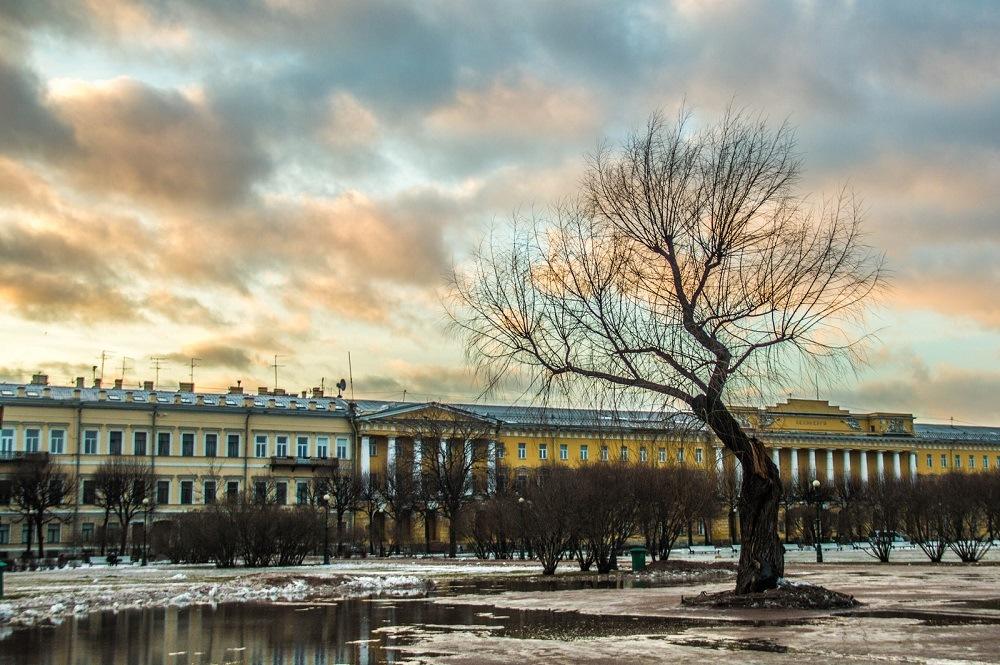 Санкт-Петербург в феврале