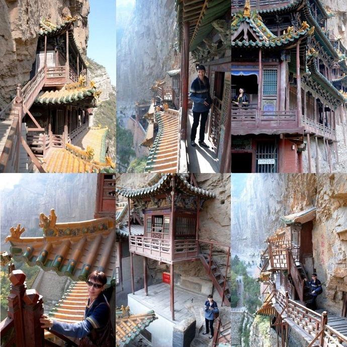 Интересные места Азии: «Висячий монастырь» Сюанькун-Сы