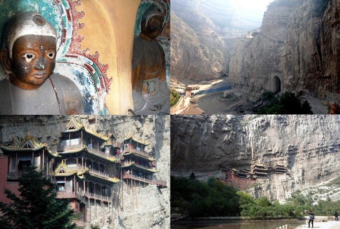 Интересные места Азии Висячий монастырь Сюанькун-Сы 4