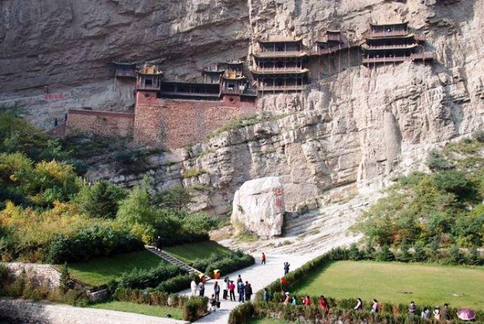 Интересные места Азии Висячий монастырь Сюанькун-Сы 5