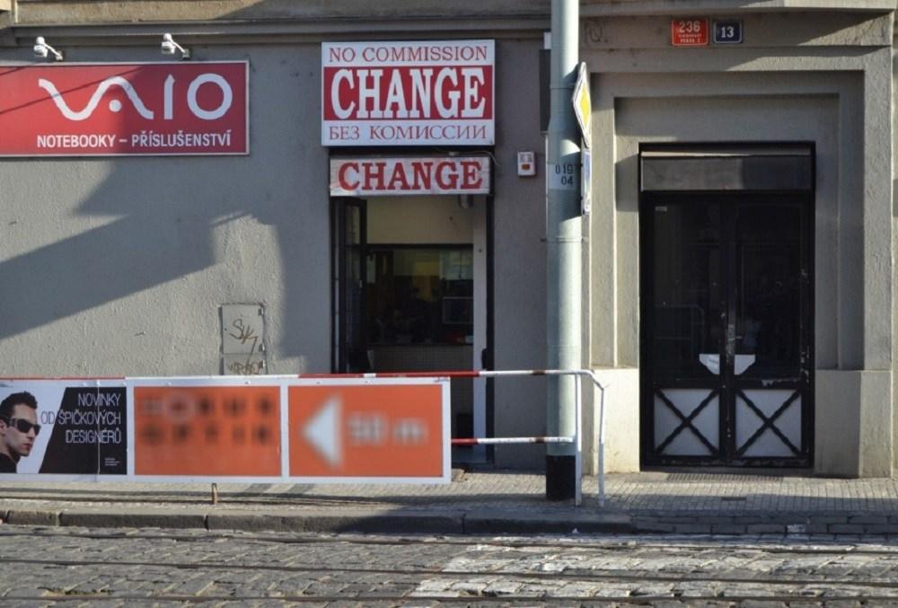 Обменный пункт в Праге