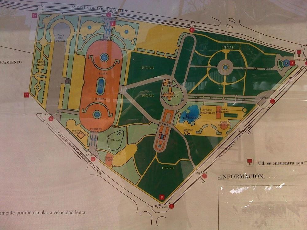 Карта парка Finca Liana
