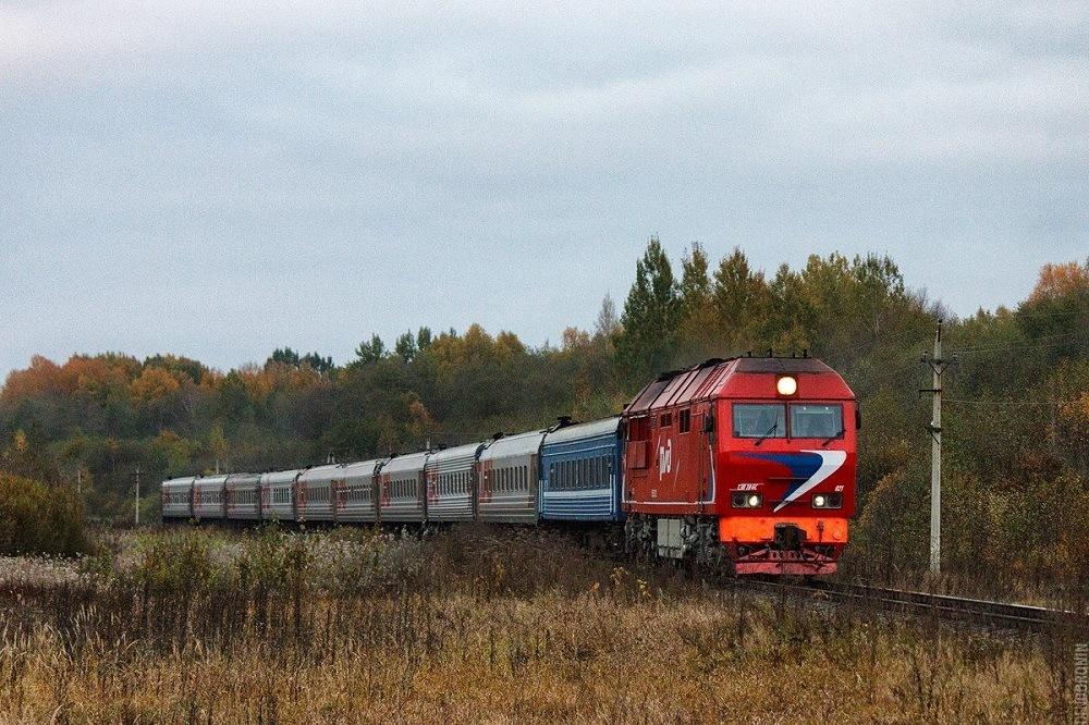 Поезд РЖД 2018