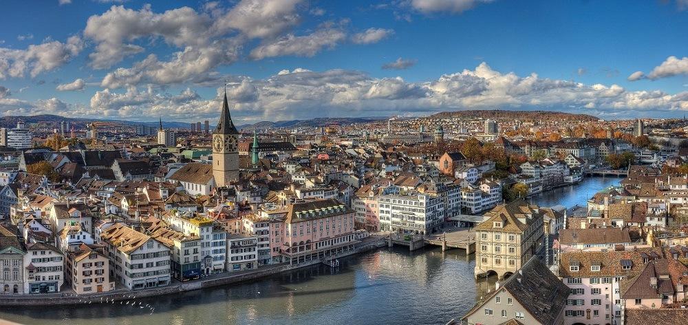 Швейцарский город Цюрих