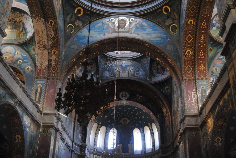 Новоафонский монастырь роспись