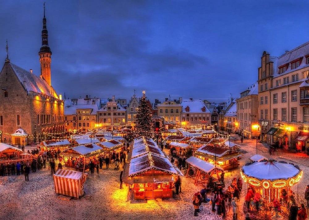 Новогодний Таллин Эстония