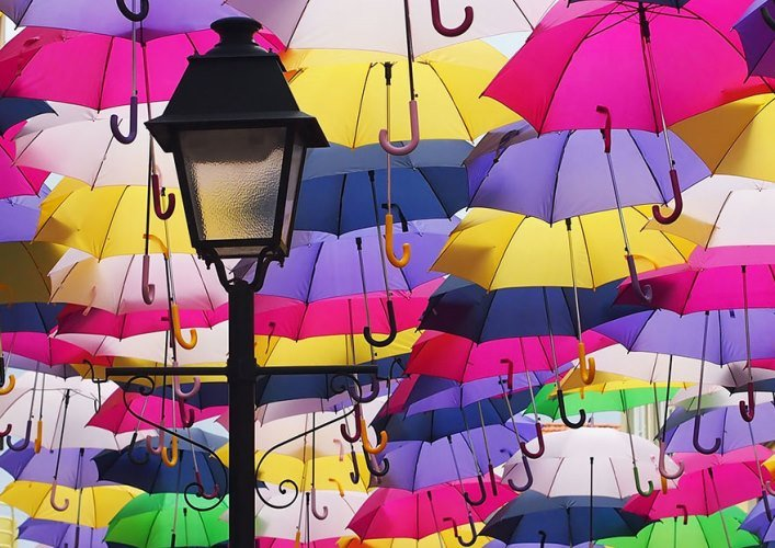 Avenue of floating umbrellas 2
