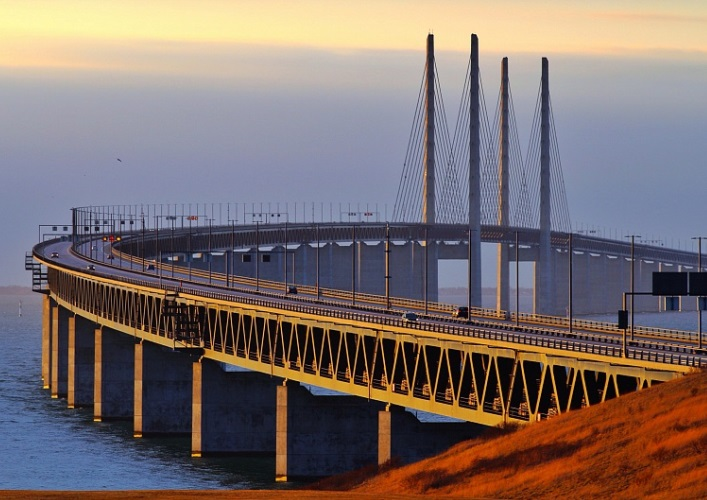 Interesting places in Europe the Øresund Bridge 2