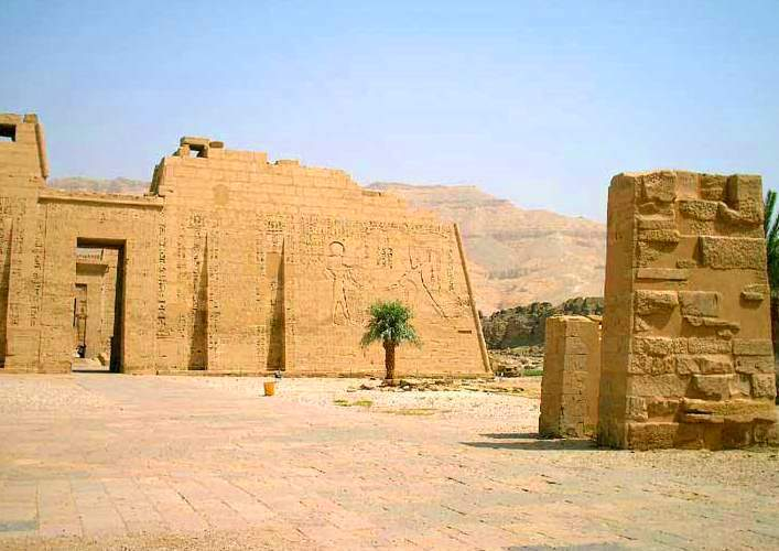 Monuments of Africa the temple Medinet Abu in Luxor 2
