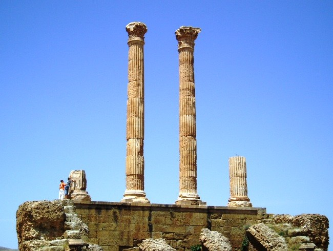 Roman city in North Africa Timgad 3