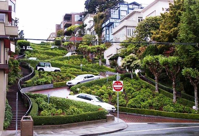 Улица-зигзаг в Сан-Франциско 2