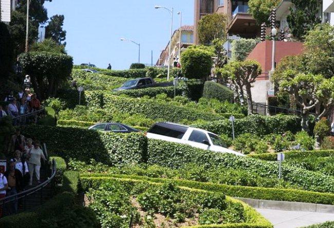 Улица-зигзаг в Сан-Франциско 5