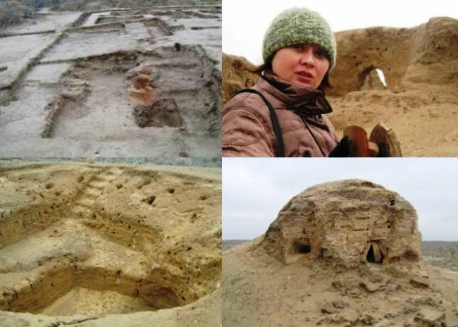 Древний город Чирик-Рабат на дне высохшего моря  3