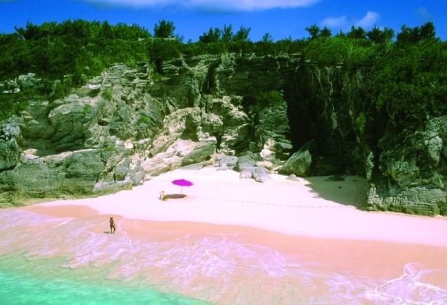 Розовый пляж острова Харбор 4