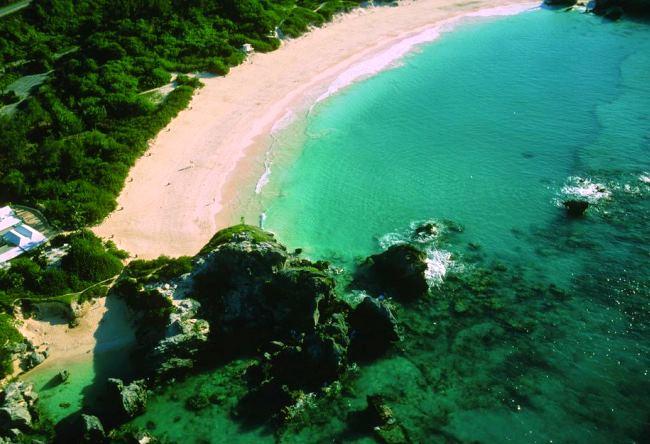 Розовый пляж острова Харбор 5