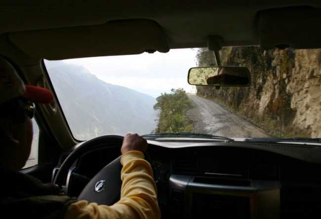 Road deaths in Bolivia is a huge slope North Yungas Road 3