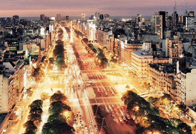Street July 9 in Buenos Aires the widest street in the world 2