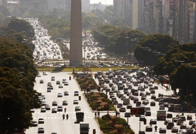 Street July 9 in Buenos Aires the widest street in the world 3