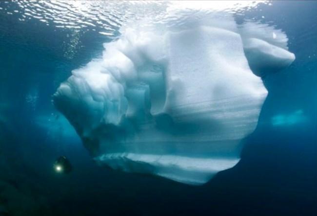 Underwater Mendenhall Glacier in Alaska 3