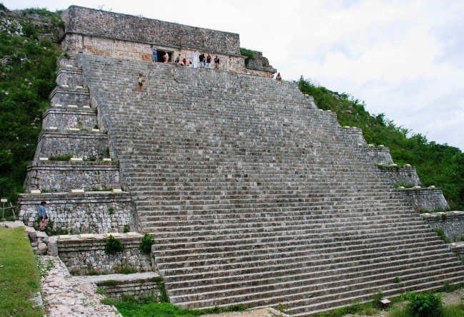 House turtles and Convent in the city of Uxmal Mayan 2