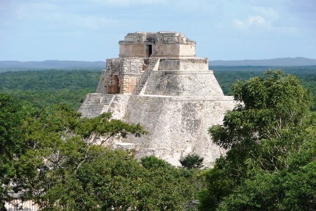 House turtles and Convent in the city of Uxmal Mayan 4
