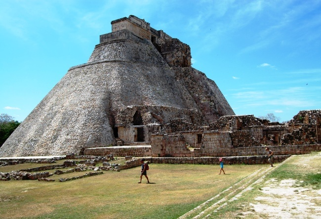 House turtles and Convent in the city of Uxmal Mayan 5