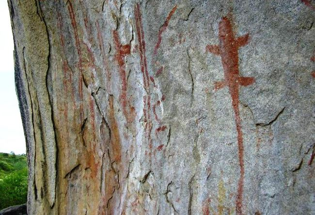 Rock paintings park Pedra Pintada 3