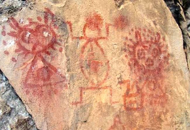 Rock paintings park Pedra Pintada 5